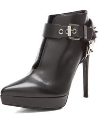 Sergio Rossi Western Leather Booties - Lyst
