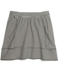 Madewell Ponte Swivel Skirt in Stripe - Lyst