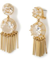 Lele Sadoughi Crystal Fringe Earrings - Lyst