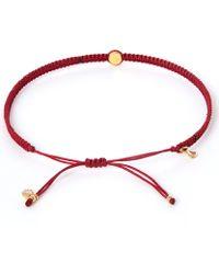Tai - Small Red Evil Eye Woven Bracelet - Lyst