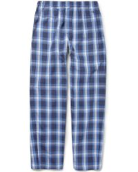 Sunspel - Check Brushedcotton Pyjama Trousers - Lyst