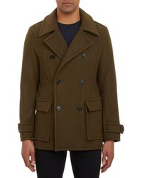 Vince Green Doublebreasted Peacoat - Lyst