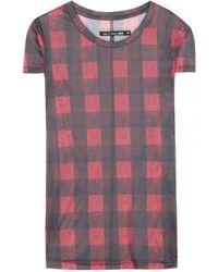 Rag & Bone Buffalo Check T-shirt - Lyst