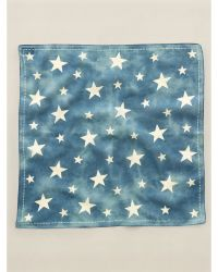 RRL Blue Paisley Scarf - Lyst