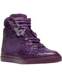 Balenciaga Monochrome Alligator Print Sneakers - Lyst