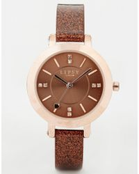 Lipsy - Glitter Watch - Lyst