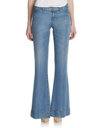 Elie Tahari Adena Flared Denim Pants - Lyst