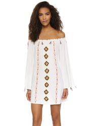 Pia Pauro - Off Shoulder Embroidered Beach Dress - Lyst