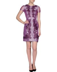 Blugirl Blumarine Short Dress purple - Lyst