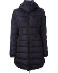 Moncler Blue Padded Coat - Lyst