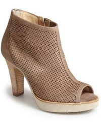 Paul Green 'Beacon' Perforated Open Toe Bootie - Lyst