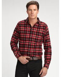 Polo Ralph Lauren Trimfit Cottontwill Plaid Shirt - Lyst