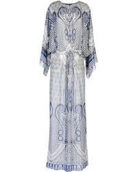 Roberto Cavalli Long Dress blue - Lyst