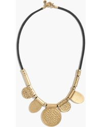 Madewell Hammered Disk Necklace - Lyst