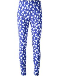 Emanuel Ungaro Flower Printed Leggings - Lyst
