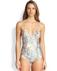 Zimmermann Quilted Floral One Piece Swimsuit - Lyst