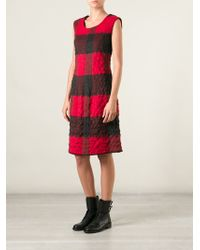 Hache Bold Checked Shift Dress - Lyst