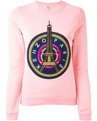 Kenzo Pink 'Eiffel' Sweatshirt - Lyst