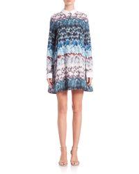 BCBGMAXAZRIA | Maris Feather-print Babydoll Dress | Lyst