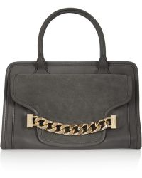 Karl Lagerfeld Kchain Texturedleather and Suede Tote - Lyst