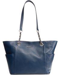 Calvin Klein Pebble Leather Tote - Lyst
