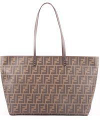 Fendi Borsa-Roll-Bag-Logo - Lyst