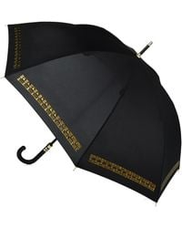 London Fog Badgley Mischka Metallic Accented Umbrella - Black