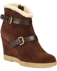 Aquatalia by Marvin K Cooler Faux- Fur Lined Wedge Ankle Boots - Lyst