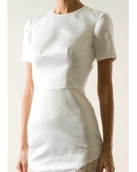 Lover Ivory Satin Dress - Lyst