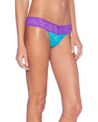 Hanky Panky Colorplay Low Rise Thong - Lyst
