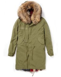 Mr & Mrs Italy Army Parka Patch Fox Coat green - Lyst