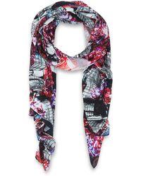 Teatum Jones - Pink Missisipi Print Silk Scarf - Lyst