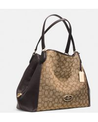 Coach Edie Shoulder Bag in Signature Jacquard - Lyst