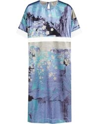 Preen Rey Printed Satin Dress - Lyst