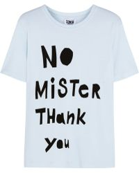 Sonia By Sonia Rykiel No Mister Thank You Cotton-Blend T-Shirt - Lyst