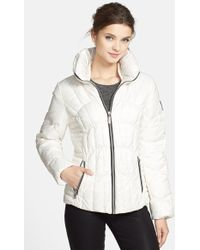 Guess Women'S Fitted Down & Feather Jacket - Lyst