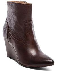 Frye Regina Wedge Short Boot - Lyst