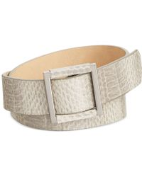 Vince Camuto Shiny Serpent Panel Belt - Lyst