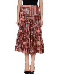 Shirt Passion Knee Length Skirt - Lyst