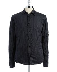 Rogue State - Striped Button-Down Shirt - Lyst