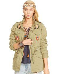 Denim & Supply Ralph Lauren Beaded Camo Field Jacket - Lyst