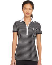 Lauren by Ralph Lauren Striped Active Polo Shirt - Lyst