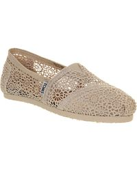 TOMS Classic Crochet Shoes - For Women - Lyst