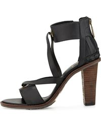Elliott Lucca - Veronica Cutout Leather Sandal - Lyst