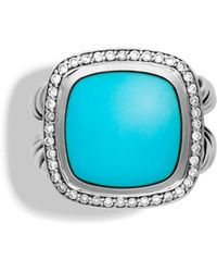 David Yurman Albion Ring With Turquoise & Diamonds - Lyst