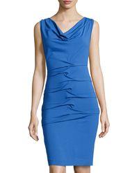 Nicole Miller Sleeveless Jersey Dress - Lyst
