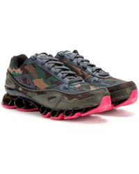 Adidas By Raf Simons Bounce Camouflagejacquard Sneakers - Lyst