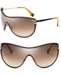 Fendi Shield Sunglasses - Lyst