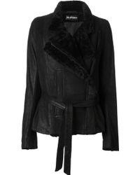 Ann Demeulemeester Hiria Biker Style Jacket - Lyst