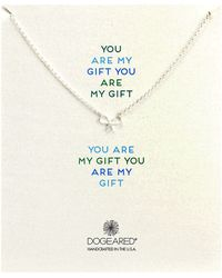 Dogeared You Are My Gift Small Bow Necklace - Lyst
